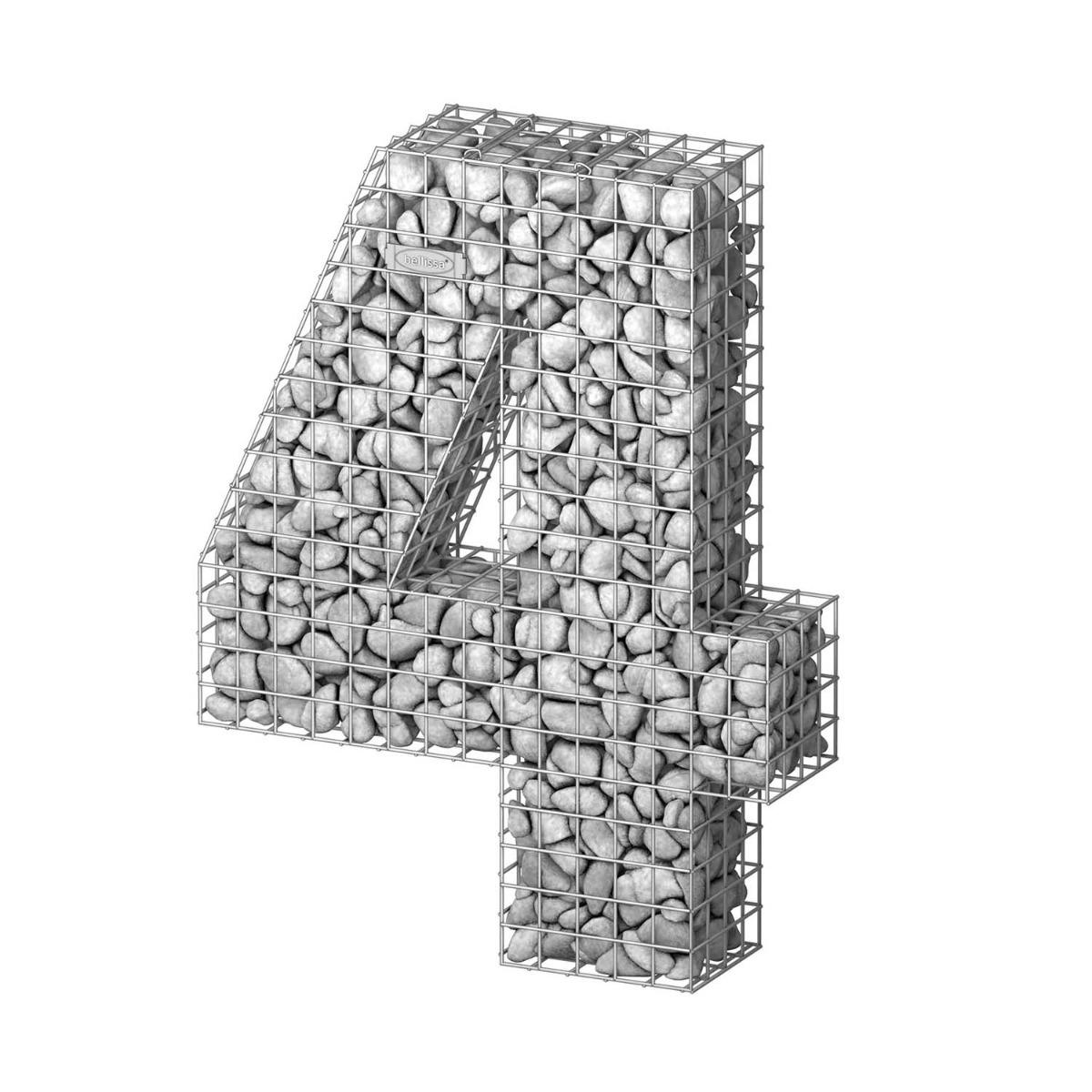 Gabionen ziffern 0, 1, 2, 3, 4, 5, 6, 7, 8, 9
