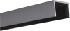 Alu U-Abschluß Profil Steingrau 0,9 Meter lang