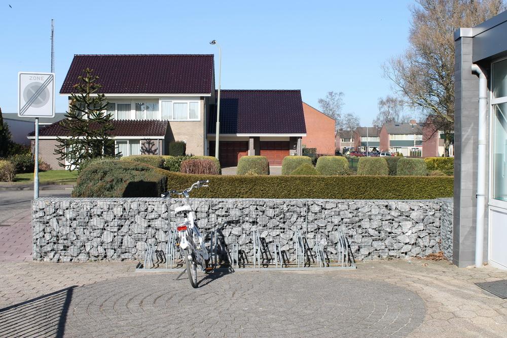 Gabionen befüllt mit Tournai Bruchstein
