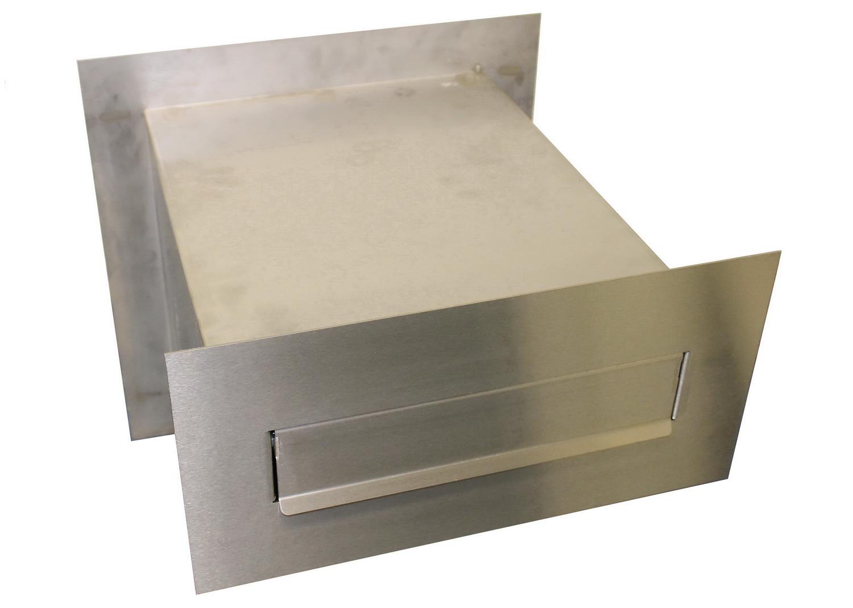Gabionen Briefkasten Edelstahl 45 cm tief