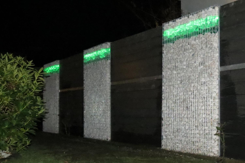 Gabionen LED Beleuchtung