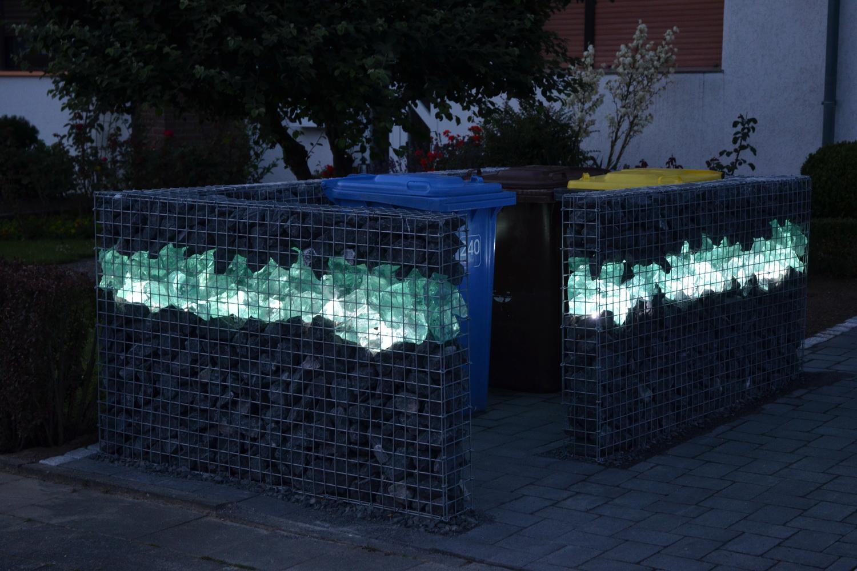 Gabionen Zaun Beleuchtung, Gabionen Beleuchtung nach Maß im
