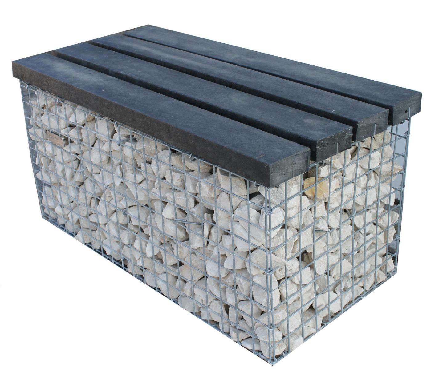 Gabionenbank Auflage Recycling-Kunststoff