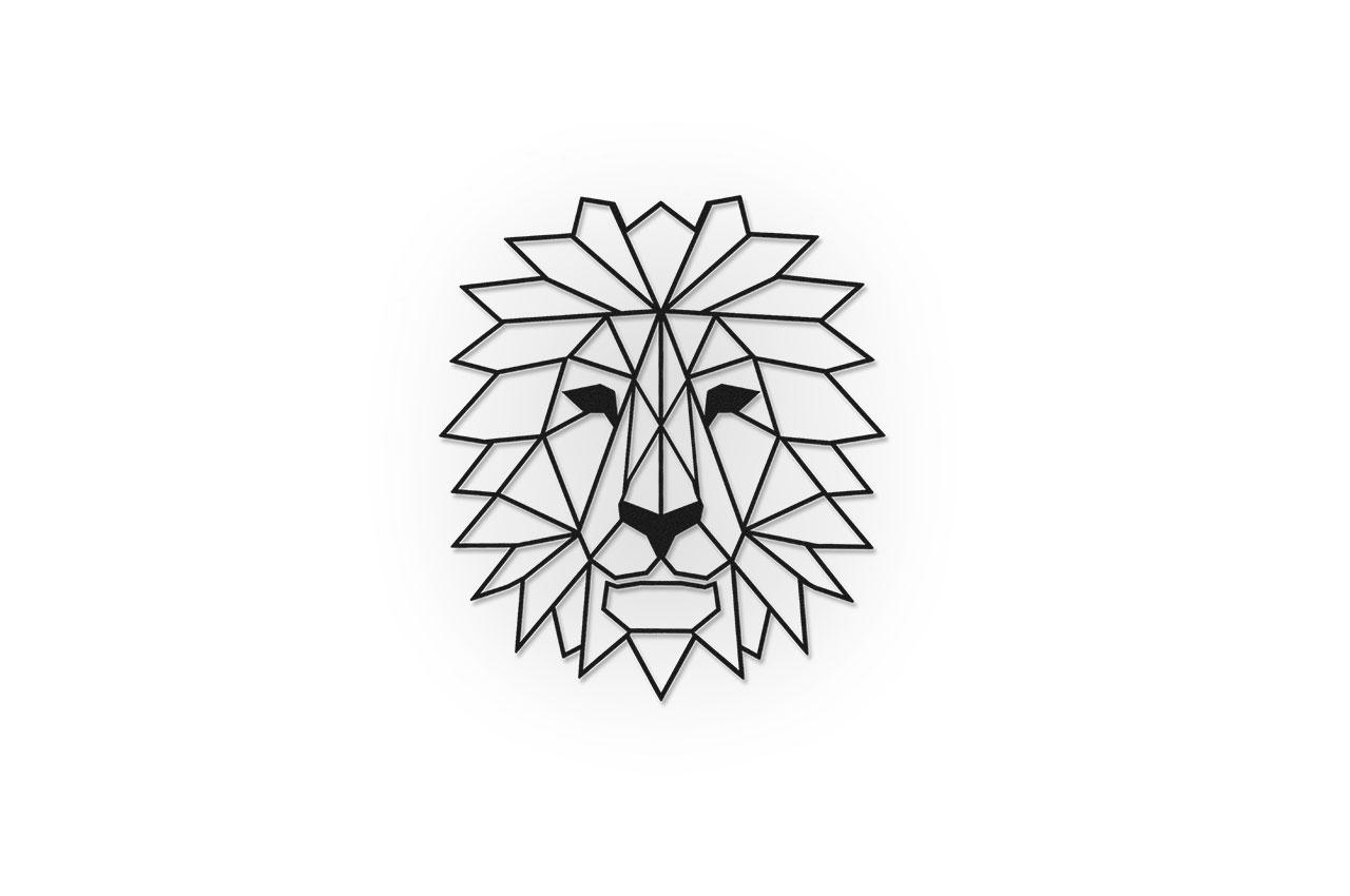 Löwe Gabion Dekoration