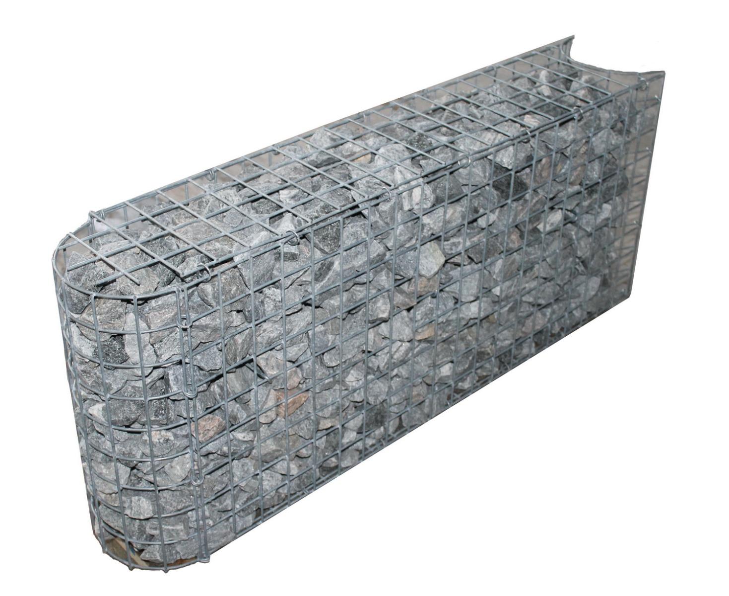Kurven-Steinkorb Tiefe 0,22m