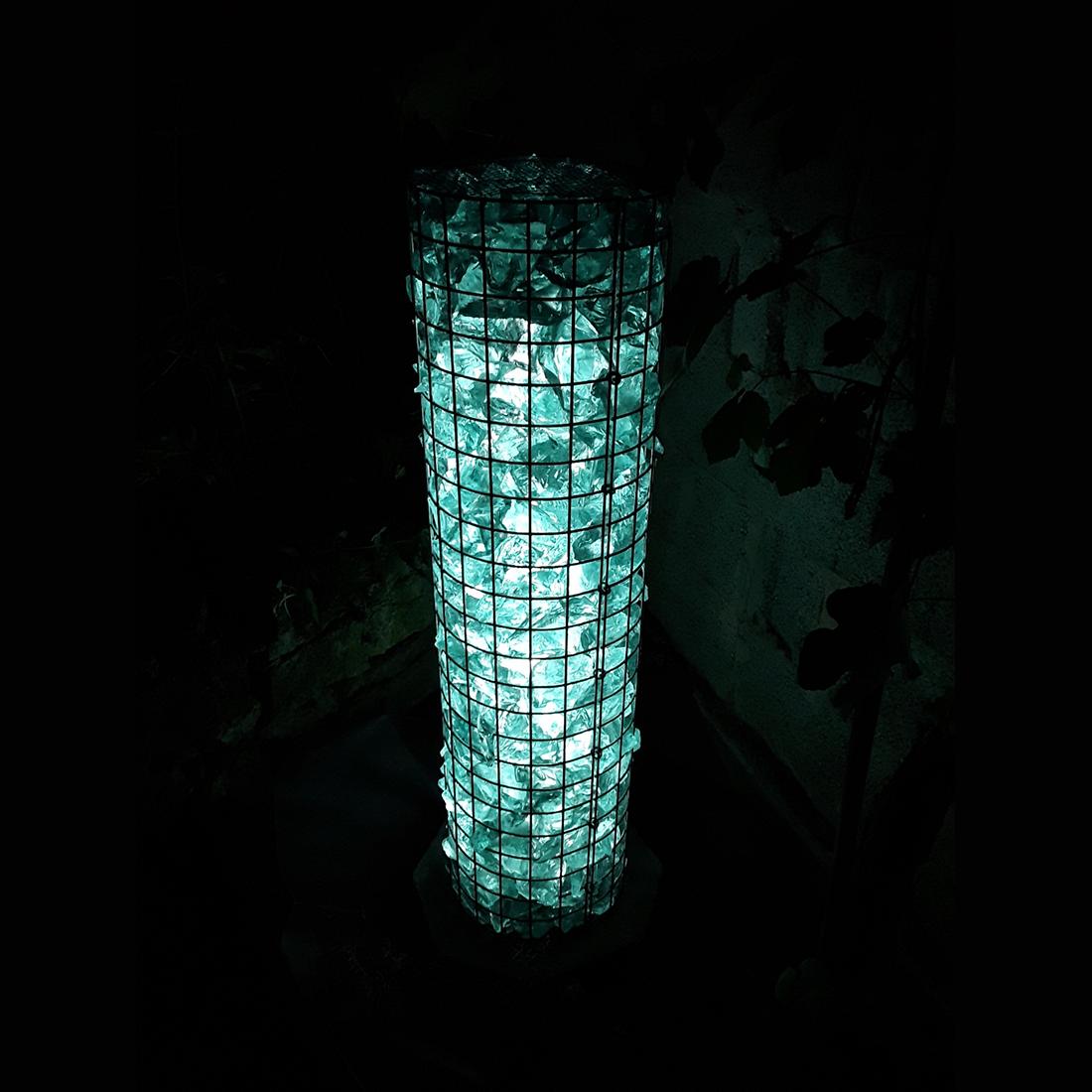 Gabionen lichtsäule Ø 52cm