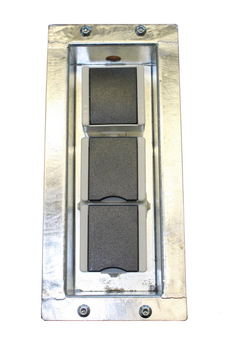 Gabionen Schaltleiste mit Doppelsteckdose