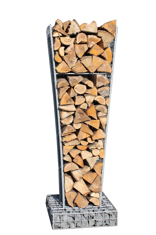Gabionen Holzlager